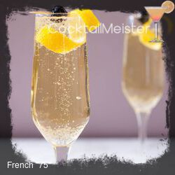 "French ""75"" cocktail"