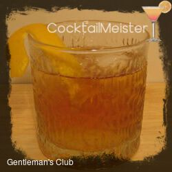 Gentleman's Club cocktail