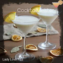 Lady Love Fizz cocktail