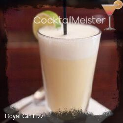 Royal Gin Fizz cocktail